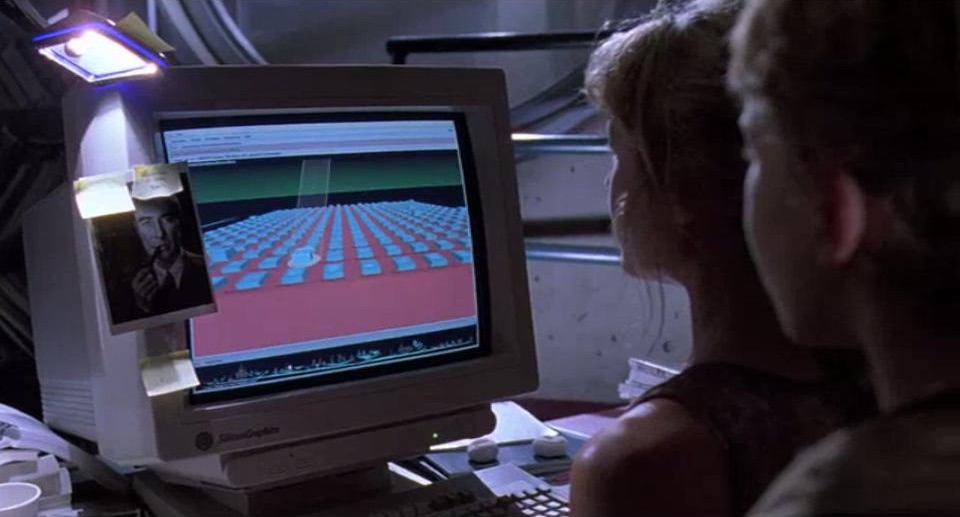Lex Murphy, character from Jurassic Park, fighting killer dinosaurs by navigating a file system.